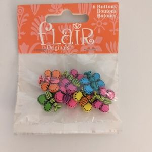 5/$15 flair originals colorful butterfly buttons